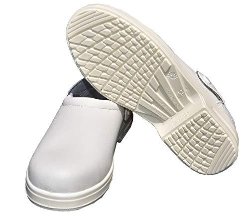 Emanhu Trading Antistatische Anti-Rutsch Stahlkappe Sicherheits-Schuhe SB Arbeitsschuhe Sicherheitsclog Klinik Berufsschuh Berufsclog (43)