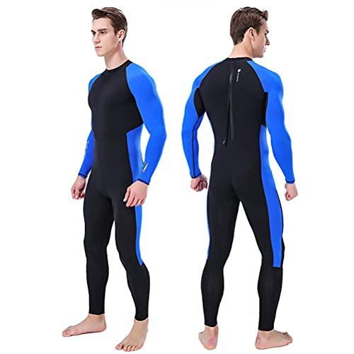 Neoprenanzüge Herren Premium Männer in voller Länge Neoprenanzug ein Stück Bademode schnell trocknen Ganzkörper-Tauchanzug wasserdicht Anzug UV-Schutz lange für Surfen Schwimmen Schnorcheln