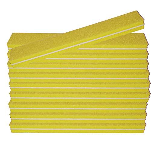 10 pièce Tampon Lime À Ongles Jaune Largeur Droite - Fichier Tampon Pour Salon De Ongles - 100/180 Grit - Tampon Professionnel