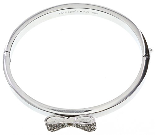 Kate Spade New York Ready Set Bow Bangle Hinged Bracelet Clear/Silver