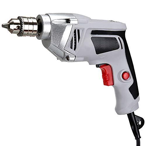 FFXENG Kraftvoller 550 Watt Profi-Bohrer, 10 mm Hochleistungs Bohrfutter.Abstellbare Schlagfunktion für das Bohren von Stahl und Holz und das Drehen von Schrauben