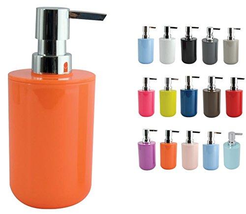 MSV - Dispenser per sapone, colore: arancione, misura unica