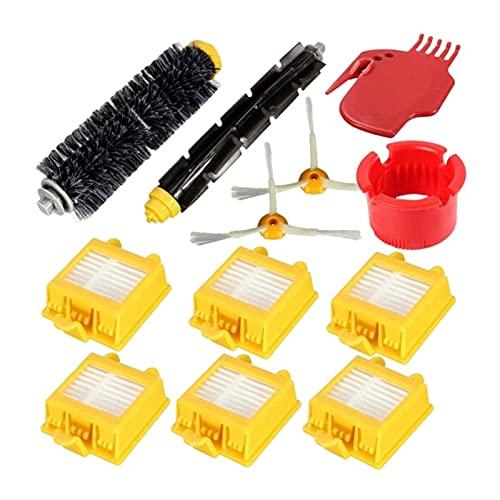PIAO piaopiao - Kit de repuesto para filtros HEPA para aspiradora IRobot Roomba 700 Series 760 770 780 790, 12 piezas, color amarillo y negro