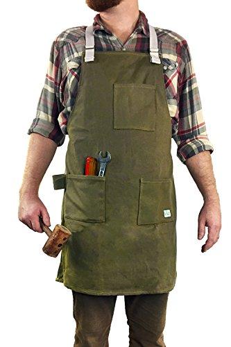 H&O Trading Co. Tablier de travail polyvalent : toile cirée durable avec bretelles croisées à...