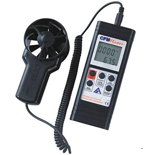 COOLSHOPY Lufttemperatur-Tester und Luftdurchflussmesser Windgeschwindigkeitsmesser Messbereich: 0,4 ~ 35 m/s AZ8901
