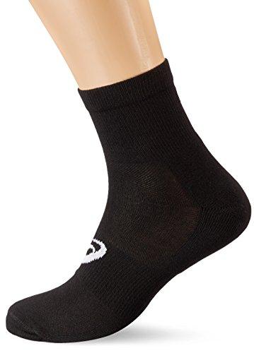 Asics Quater Socken, 3er-Pack, Größe 35-38, Schwarz