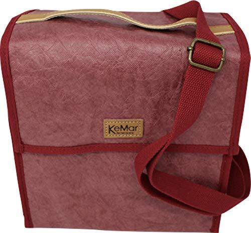 KeMar Kitchenware Lunchbox Tasche aus PE Papier | Kühltasche | Lunchtasche | Isoliertasche | Thermotasche | Bentobox Tasche | Kirsch Rot | Wasserabweisend | Vegan | Recycelt | Nachhaltig