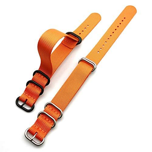 RHBLHQ Correa de Reloj 18mm 20 mm 22 mm 24 mm de Tejido de Nylon Reloj de Reloj Espesado Anillo Hebilla de la Banda de la Banda de la Banda de la Pulsera Accesorios Correa de Reloj de Nailon