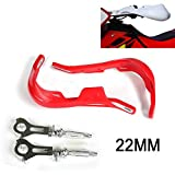 Handguard 7/8' Aluminum Hand Guard For Honda CRF50 CR80 CR85 CRF110 CR125R CR250R CR500R CRF150R CRF150F Motorcycle Dirt Bike Pit bike (Red)