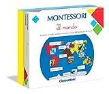 Clementoni- Montessori-Il Mondo, Gioco educativo, Multicolore, 16210
