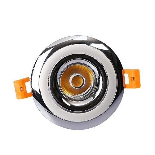 Modenny 12W LED Rund Deckeneinbau Flat Panel Down Light Ultra Slim Panel Integriertes Spotlicht Anti-Glare Super Bright Bekleidungsgeschäft Ausstellungsbüro Deocr Beleuchtungskörper