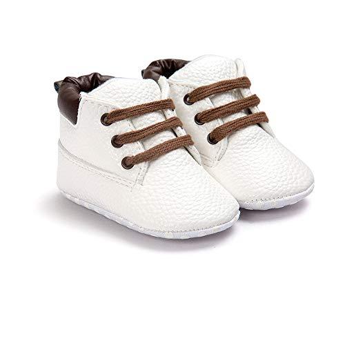Morbuy Baby Schuhe Baumwolle Winter 0-18 Monate Neugeborene Babyschuhe Mädchen Kleinkind Weiche Alleinige Anti-Rutsch Krabbelschuhe Wanderer Schuhe (12cm / 6-12 Monate, Weiß Plus Samt)