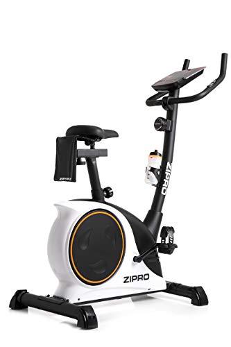 Zipro Erwachsene Magnetisches Fitnessbike Heimtrainer Nitro RS bis 150kg Eine Schwungmasse von 8 kg, Schwarz, One Size