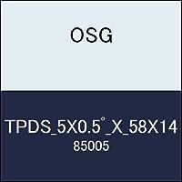 OSG テーパーエンドミル TPDS_5X0.5゚_X_58X14 商品番号 85005