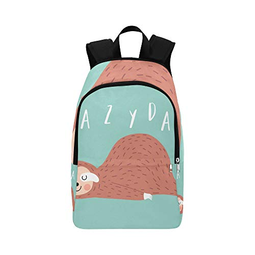 DKGFNK Casual Crossbody Bag Kawaii Cute Sloth Popular Animal Durable Water Resistant Classic Womans School Bag Best Backpack Girls Sports Bag Casual Hiking Bag