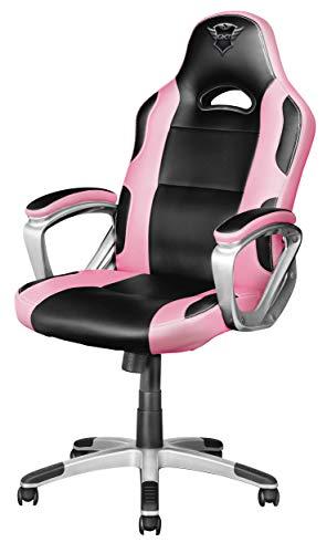 Trust GXT 705P Ryon Silla Gaming ergonomica, disenada para jugar comodamente durante horas, rosa