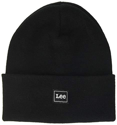 Lee Jersey Beanie Gorro de Punto, Negro (Black 01), Talla única para Hombre