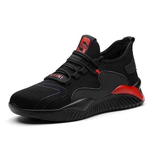 Scarpa Antifortunistica Uomo Leggera Protettive S3 Traspiranti Antiscivolo Sportive Gomma Sneakers Scarpe da Lavoro