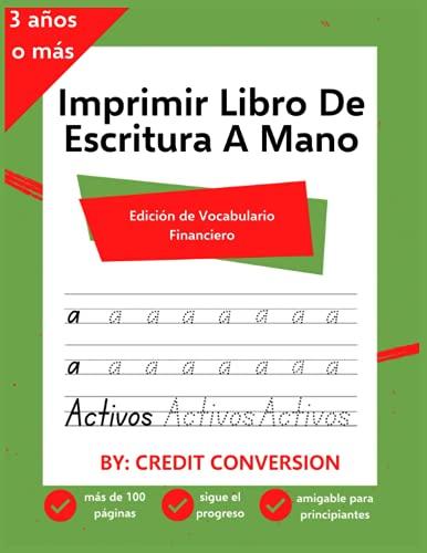 Imprimir Libro De Escritura A Mano: Edición de Vocabulario Financiero
