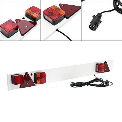 Anhänger Lichtleiste 7-polig, Breite 137cm & 6m Kabel, mit u.a. Rücklicht, Bremslicht & Blinklicht