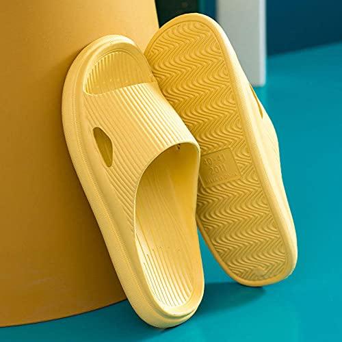 MLLM Jardín Beach Yard zapatilla de baño, interior suave inferior zapatillas de baño, desodorante, sandalias de baño EVA amarillo_38-39, sandalias de ducha antideslizantes