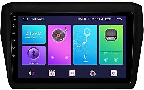 MIVPD 9 Pulgadas IPS Pantalla táctil Auto Sat Coche STER STEC STC Online/Offline Map Mult Multimedia Player GPS Head Unit NAVEGACIÓN Android 9.0 Compatible para Suzuki Swift 2017,4 Core WiFi 1+16GB