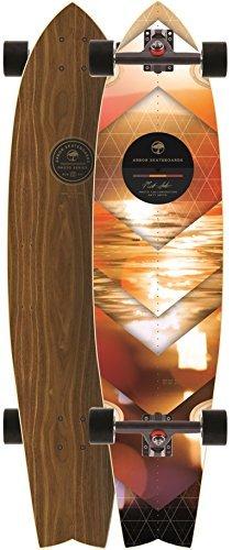 Arbor Mission Walnut 2015 Complete Longboard Skateboard New by Arbor