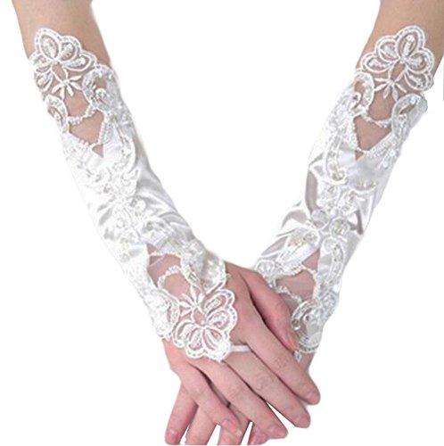 Élégantes Gants de mariage mariée cortège des gants de dentelle de robe-09