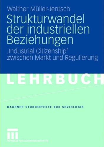 Strukturwandel der industriellen Beziehungen: 'Industrial Citizenship' zwischen Markt und Regulierung (Studientexte zur Soziologie)
