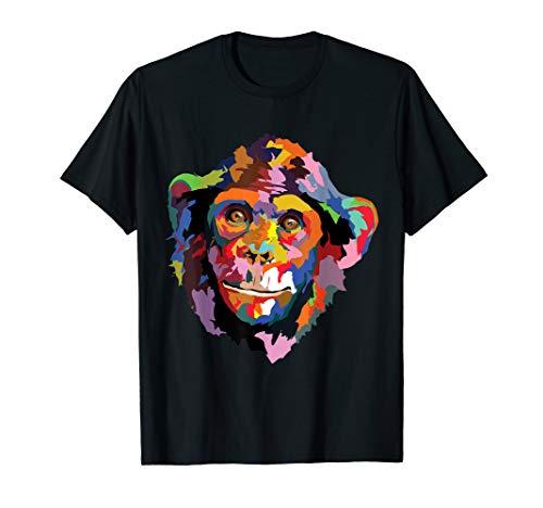 Bunter Lustiger Affe Niedlicher Affen Tierischer Gesichts T-Shirt