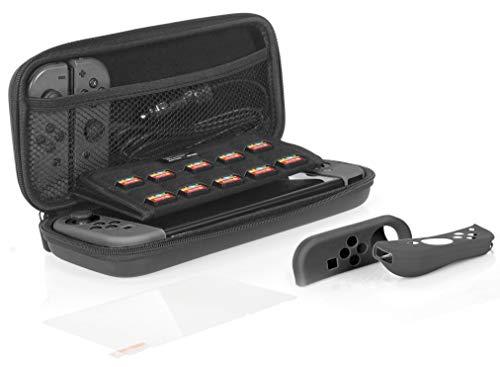 Amazon Basics - Kit de protección para Nintendo Switch, con funda de...