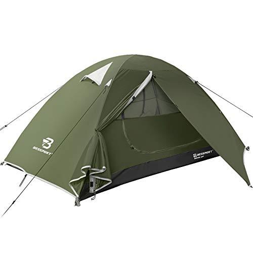 Bessport Zelt 2 Personen Ultraleichte Camping Zelte Wasserdicht 3-4 Saison Kuppelzelt Sofortiges Aufstellen für Trekking, Outdoor, Festival, Camping, Rucksack, mit kleinem Packmaß