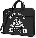 Bolsa para portátil de 13-15,6 Pulgadas Probador de cerveza para camping Bolso de Hombro para portátil Bolso de Hombro Elegante Ordenador Portátil