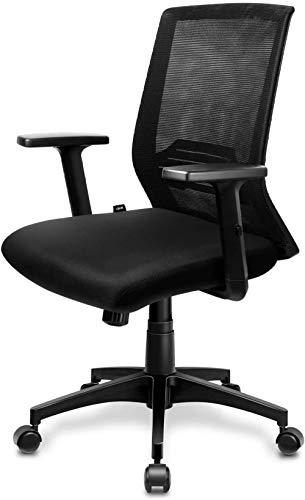 Bürostuhl Schreibtischstuhl ergonomisch atmungsaktiver Bürodrehstuhl mit verstellbaren Armlehnen Wippfunktion bis 30° Bürosessel 120 KG