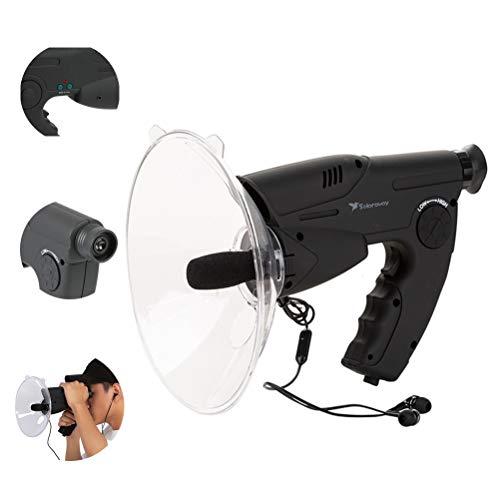HERAHQ 8X Escucha Dispositivo monocular Aves Bird Watching Telescopio Instrumento, Larga Distancia HD observación de Aves Listener - Totalmente de Placas de Vidrio - Bird Amantes Principiantes