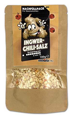 Ingwer Chili Salz Nachfüllset für Gewürzsalzmühlen 100 g