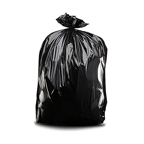 Plasticplace Contractor Trash Bags 55-60 Gallon ? 6.0 Mil ? Black Heavy Duty Garbage Bag ? 36