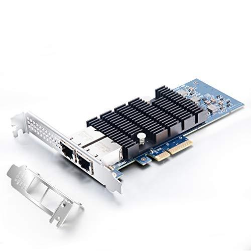 10Gb PCIE Netzwerkkarte für Intel X550-T2 - ELX550AT2 Chip, Dual RJ45 Ports Glasfaser Netzwerkkarte, 10Gbit PCI Express-X4 LAN Netzwerkadapter für Windows Server, Windows 7/8/10, Linux, VMware ESX