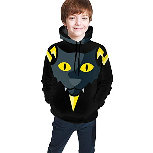 Electric Devil Youth Hoodie Comfortable Big Pocket Pullover Hooded Sweatshirt for Boys Girls Teenagers