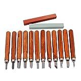 HEALLILY 12 Pcs Sculpture Artisanat Couteau Ensemble Passe-Temps Art Couteau Précision Artisanat Couteau pour Bricolage Art Travail Coupe Passe-Temps Artisanat Guitare Ukelele Réparation