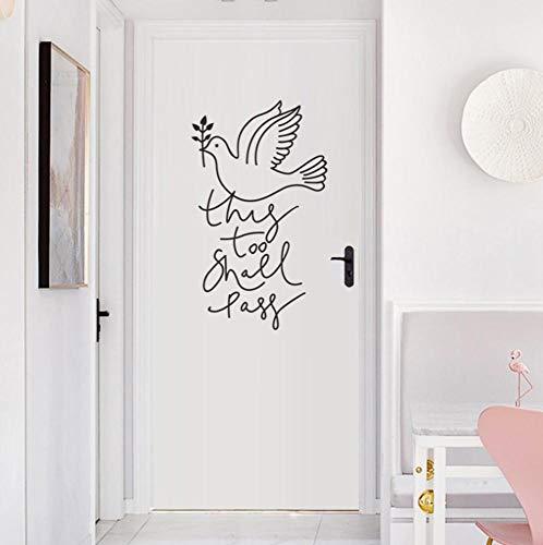 33x57cm Friedenstaube Wandaufkleber Einfache kreative Wohnwand/Tür Hintergrunddekoration Wandkunst Aufkleber Tapete Wohnkultur Aufkleber