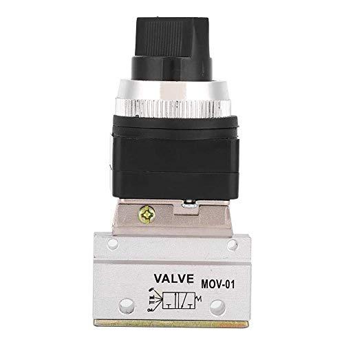 SUNTAOWAN Válvula Neumático válvula mecánica, 1PC Rotatory Interruptor 2 Posición 3 Way G1 / 8 válvula mecánica neumática Anillo NBR Sellado for Equipo mecánico Textile Device