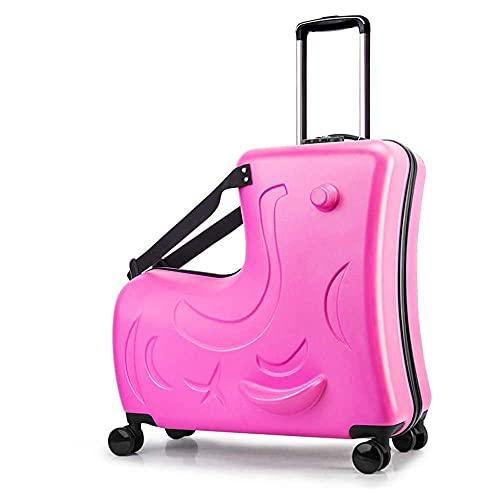 Maleta de viaje para montar de 24 '- Bolsa de equipaje de mano portátil para equipaje de mano, carrito plegable Cochecito para equipaje Puede aliviar la fatiga del viaje Aumenta la diversión del viaje
