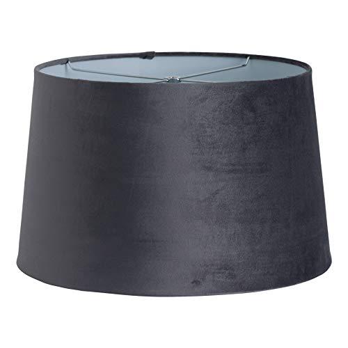 40cm groot grijs fluweel lampenkap lichte schaduw - Harp & Finial Fitting
