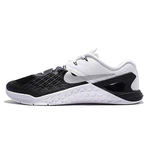 Nike Mens Metcon 3 Shoes Black/White/Silver 005 Size 14