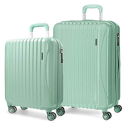 Movom Trafalgar Juego de maletas Verde 55/67/77 cms Rígida ABS Cierre TSA 108L 4 Ruedas dobles Equipaje de Mano