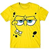 Spongebob Squarepants Angry Mocking Big FACE Large Character Costume T-Shirt for Adult - Small Yellow