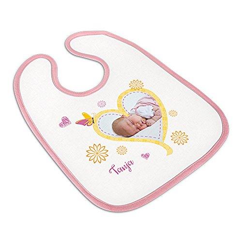 Babylätzchen mit Foto selbst gestalten und bedrucken ✓ Schlabberlätzchen ✓ Kleckerlatz ✓ (rosa)