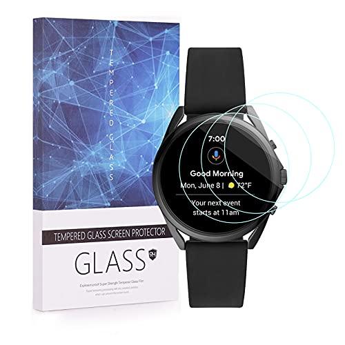 BECEMURU Fossil Gen 5 LTE Smartwatch Bildschirmschutzfolie, Huafly 9H Full Coverage Screen Tempered Glass Protector für Fossil Gen 5 LTE Smartwatch (3 Stück)