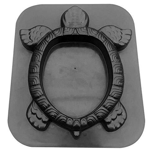 Forma tortuga Camino de jardín encofrado deslizante flor que plantan Hormigón Cemento Fabricante de decoración Operación simple práctico Conveninently Molde Cemento (Color : 40x34x3.8cm A)